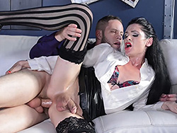 Penny and wolf. Sexy Penny gets fuck real rough